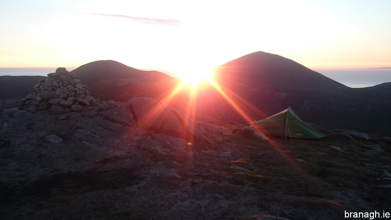 Slieve Lamagan Summit Camp 18/07/16